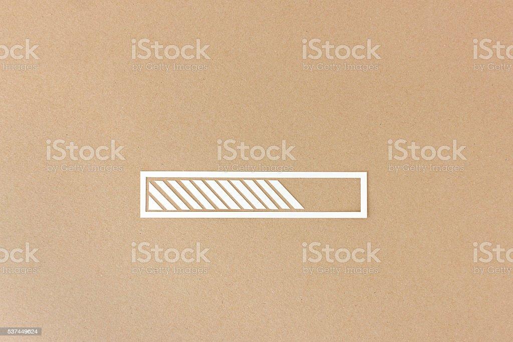 Progress or loading bar stock photo
