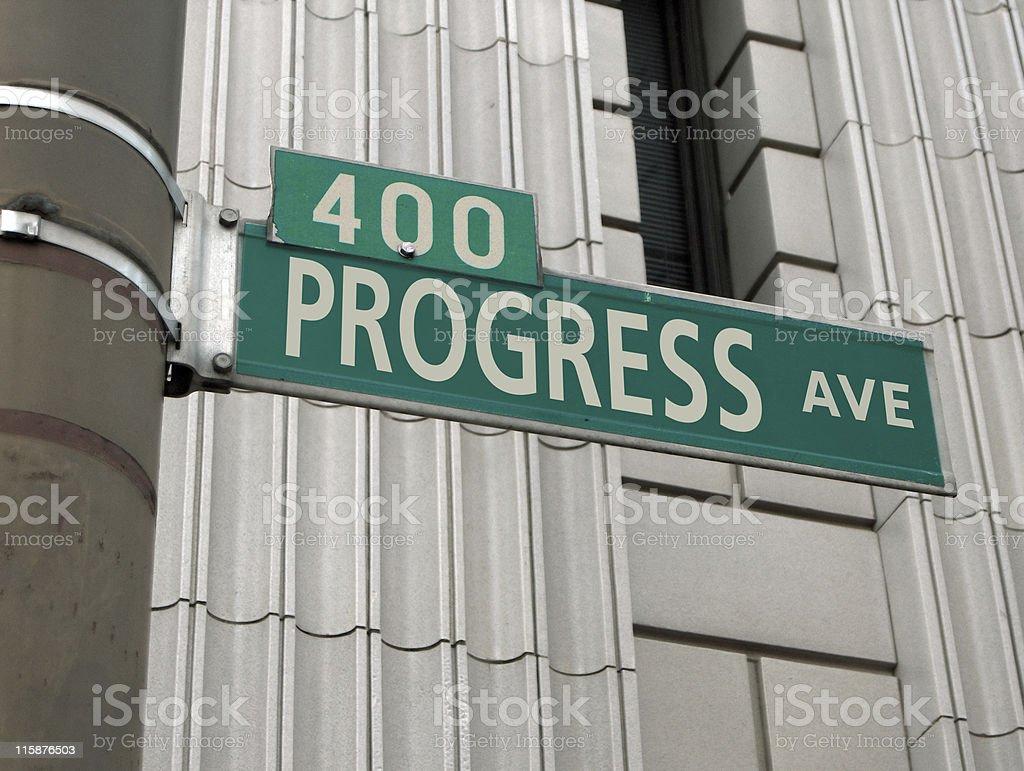 Progress Road Sign royalty-free stock photo