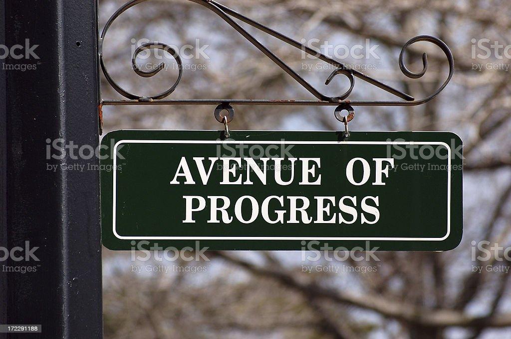 Progress this way royalty-free stock photo