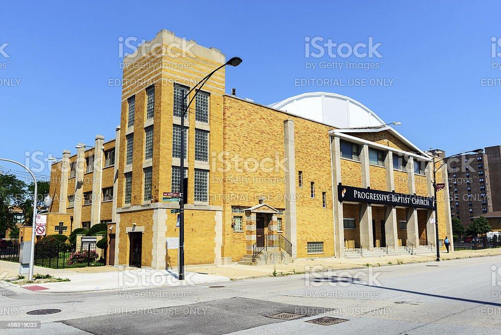 Progressive Baptist Church in Armour Square, Chicago stock photo