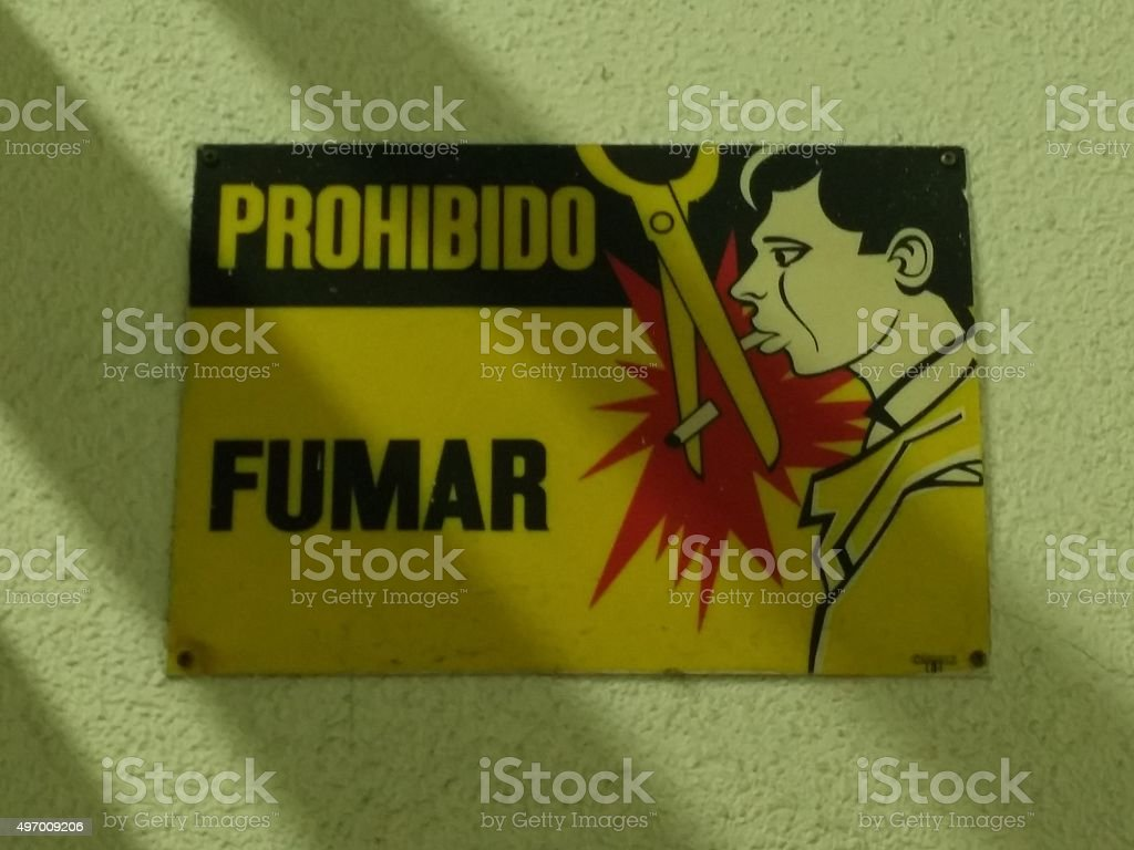 Prohibido fumar stock photo