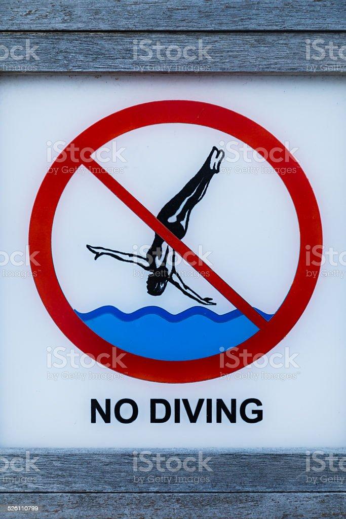 prohibited plunge stock photo