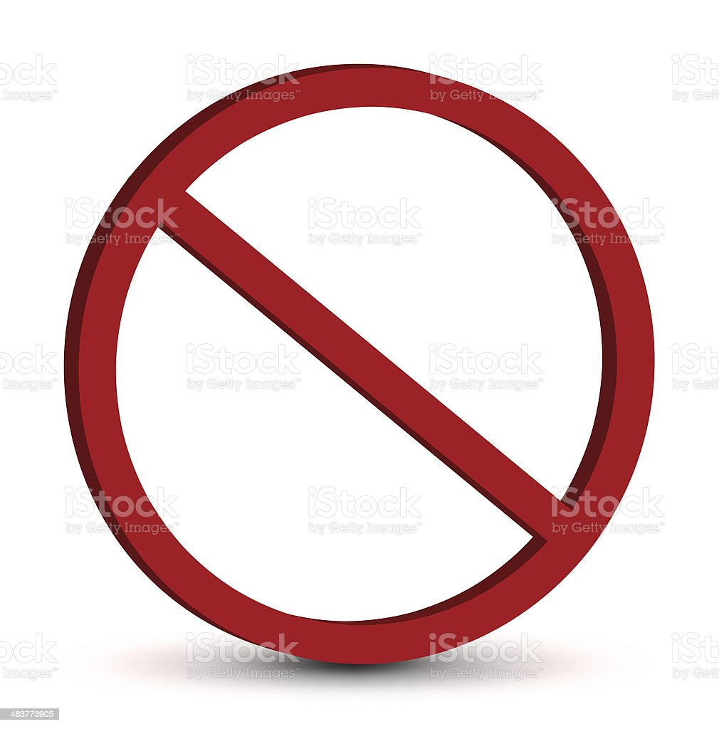 Prohibition Sign stock photo