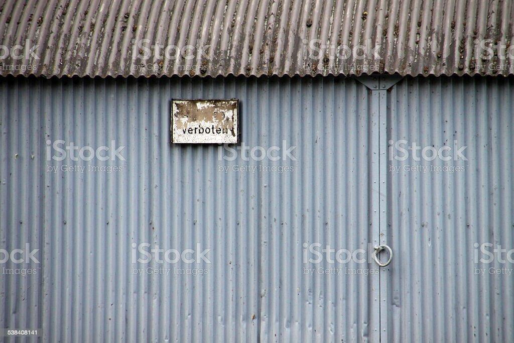 Prohibition sign stock photo