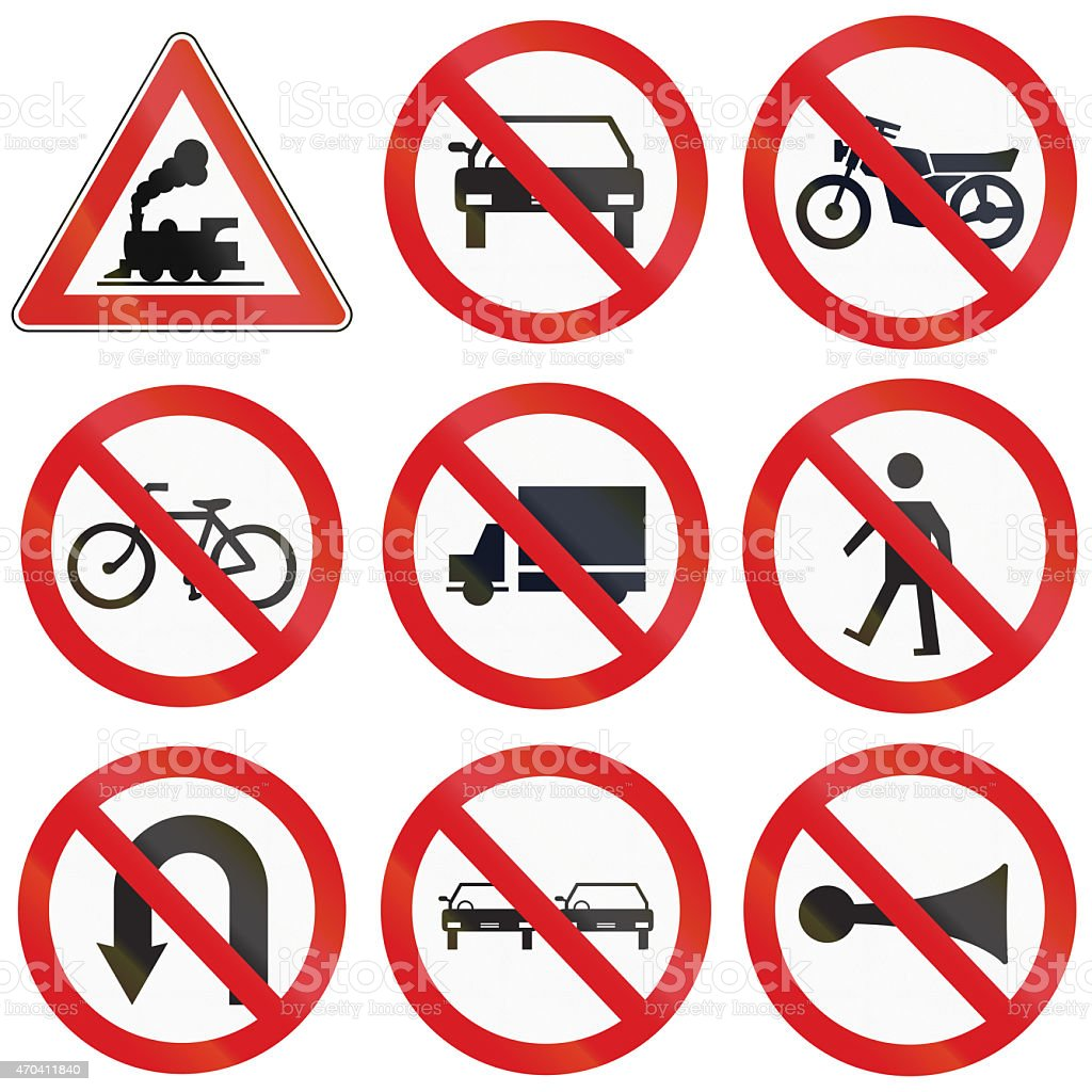 Prohibition Signs in Argentina stock photo