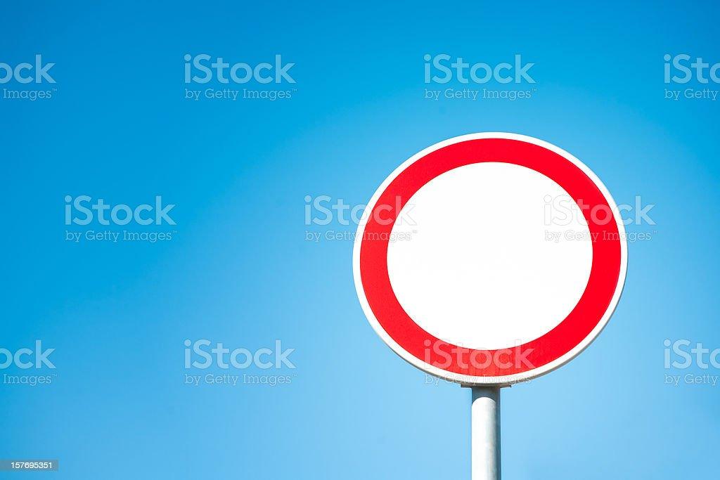 Prohibitory traffic sign stock photo