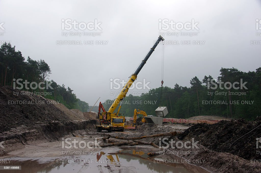 Project crane in action stock photo