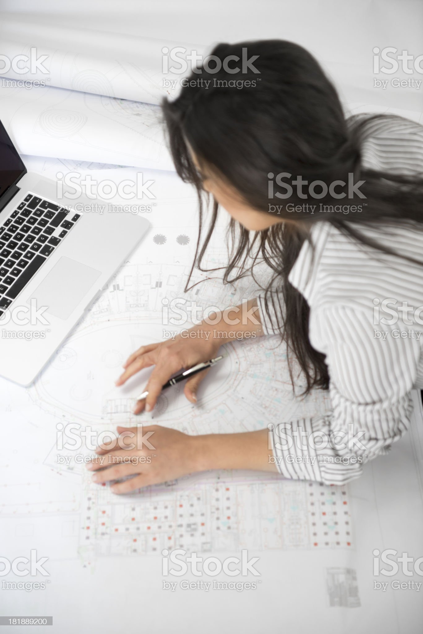 project drawing royalty-free stock photo