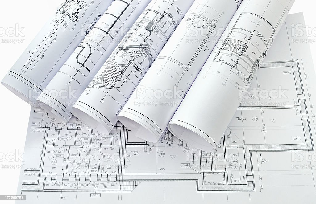 Project drawings royalty-free stock photo