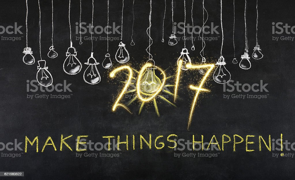 Project for New Year 2017 stock photo