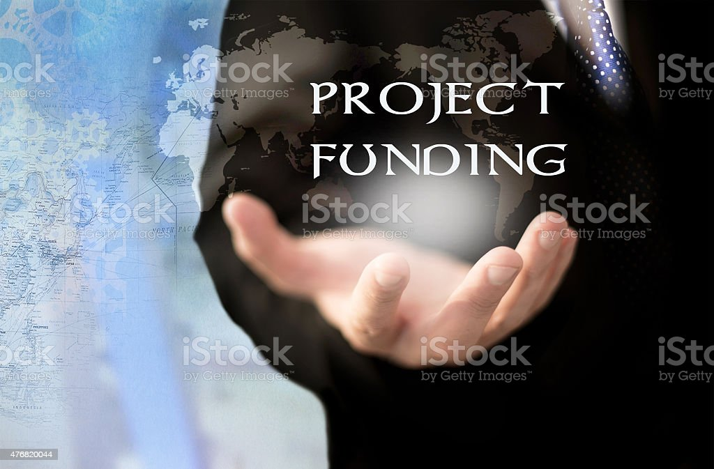 Project funding concept. stock photo