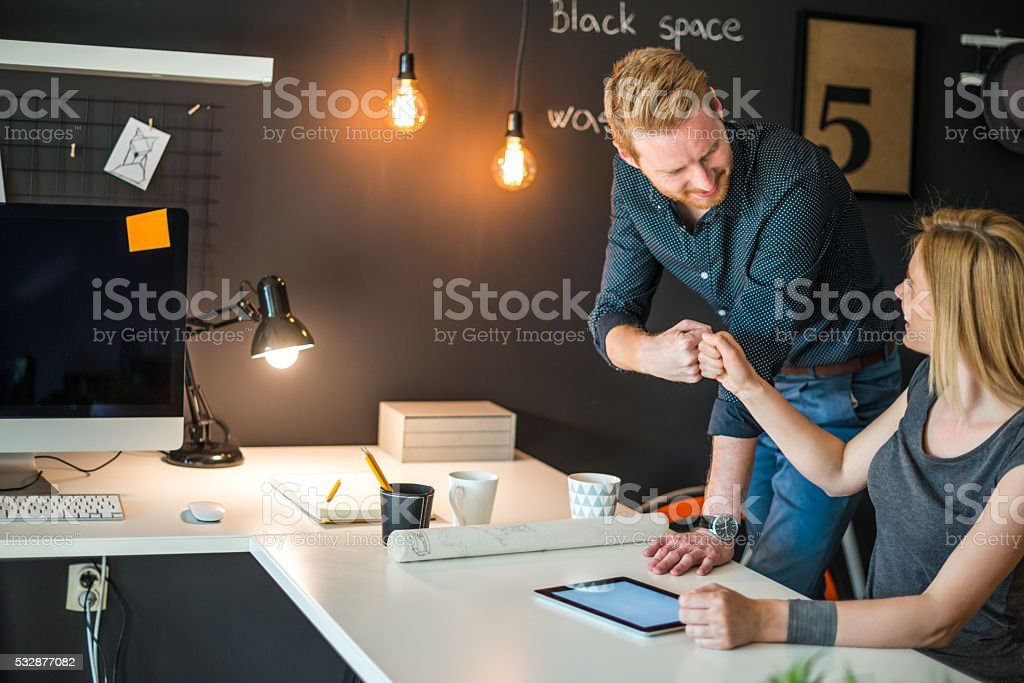 Project has been successfully completed stock photo