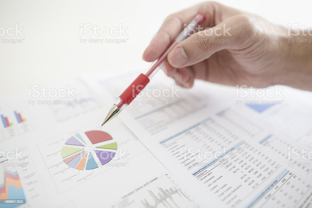 project management data stock photo