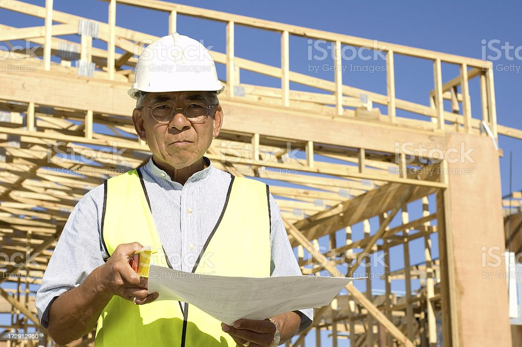 Project Manager at building site royalty-free stock photo
