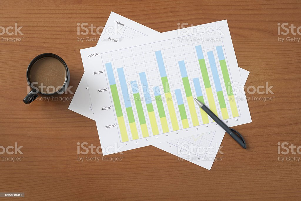 project manager's desk royalty-free stock photo