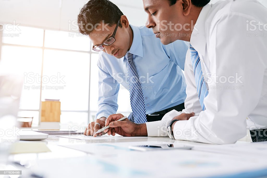 Project managers stock photo