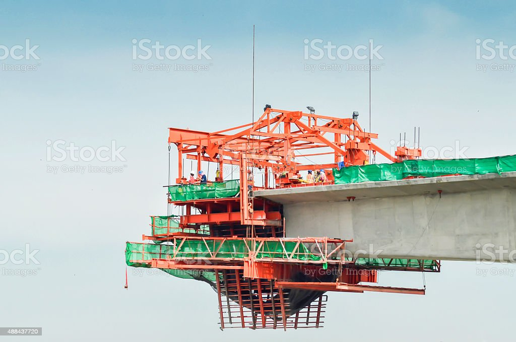 Project of electric train. stock photo
