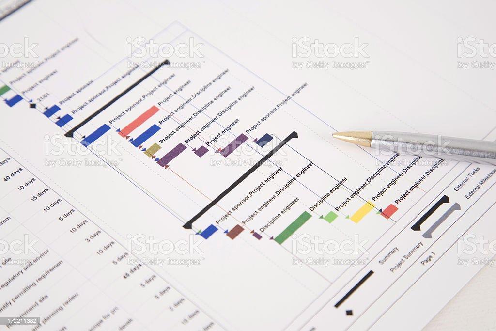 Project Plan Gantt Chart royalty-free stock photo