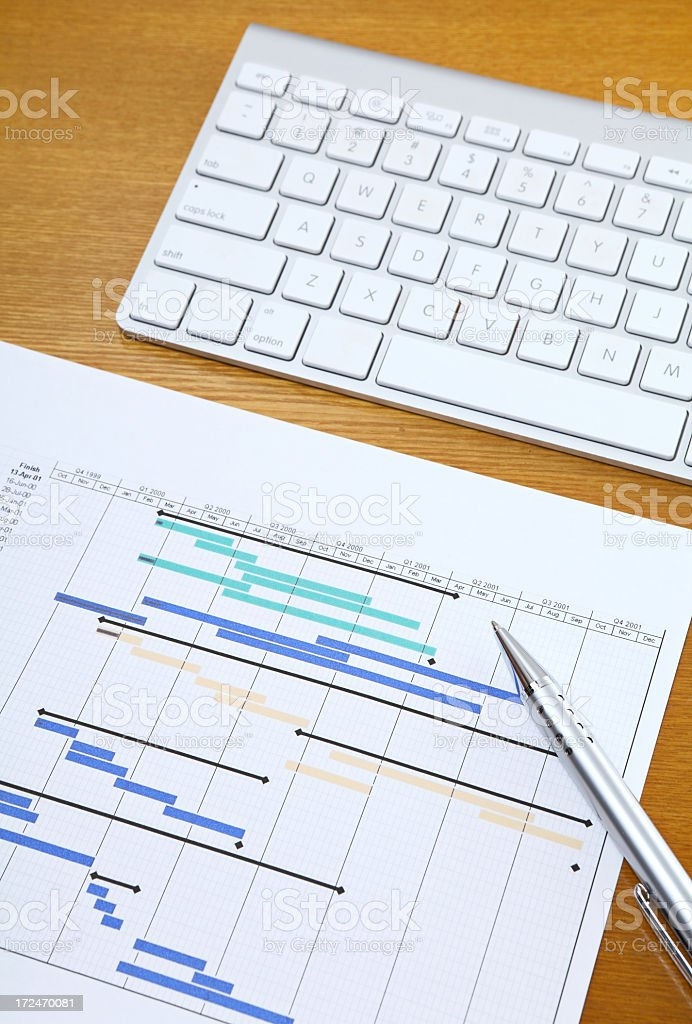 Project Plan royalty-free stock photo