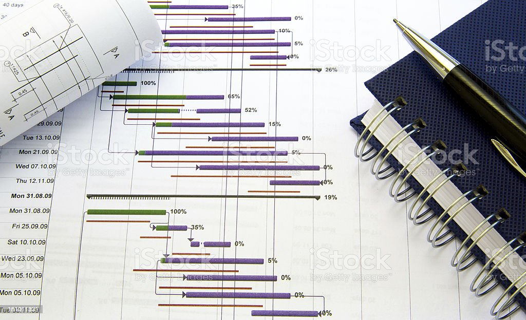 Project planning stock photo