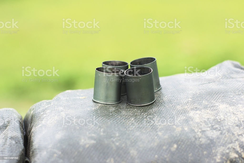 projectile casing stock photo