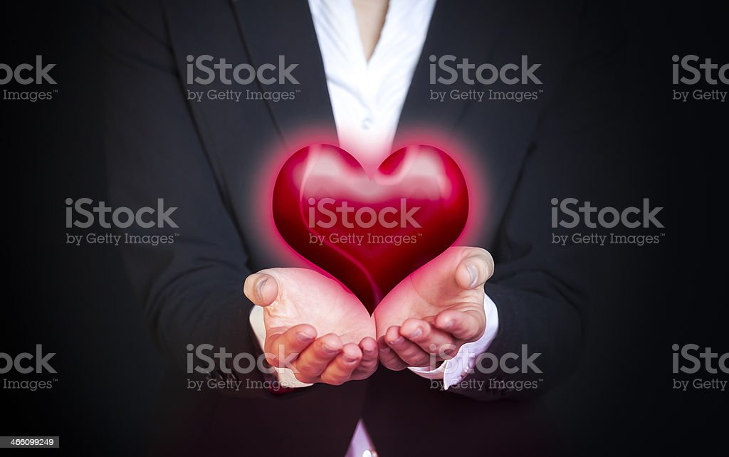 Projecting love royalty-free stock photo