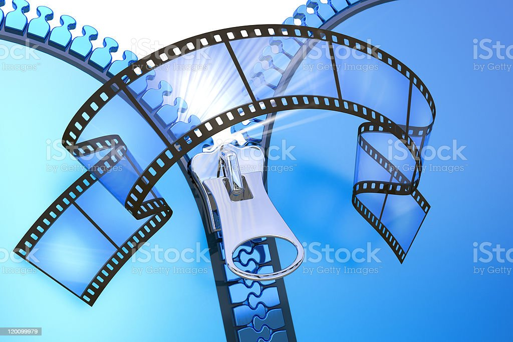 Projection film stock photo