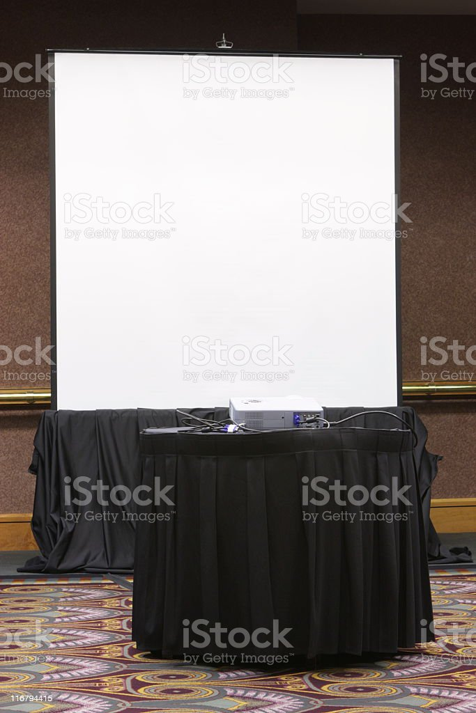 Projection Screen Business Presentation Meeting stock photo