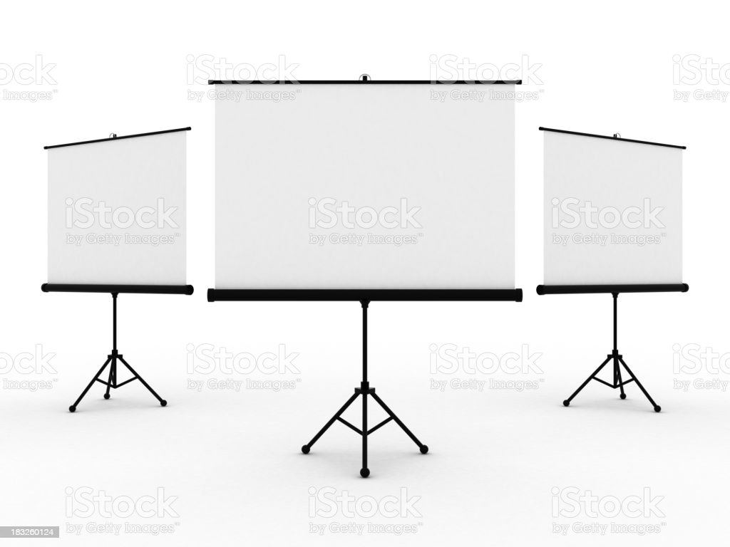 Projection Screens stock photo