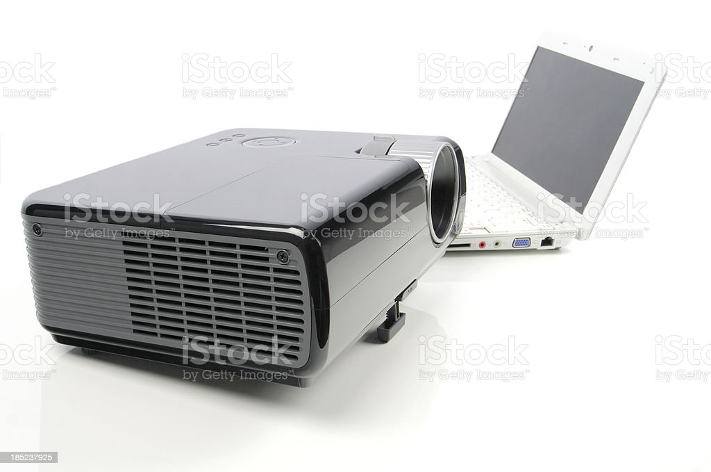 projector and laptop royalty-free stock photo