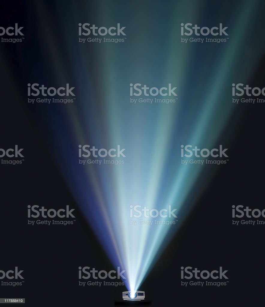 Projector beams stock photo
