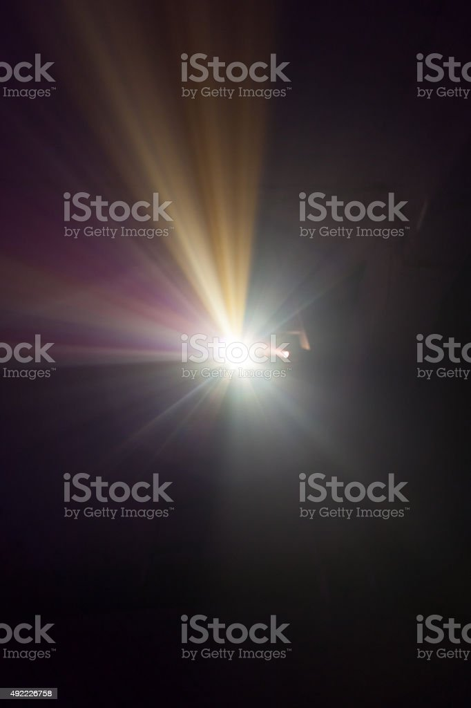 projector lights stock photo