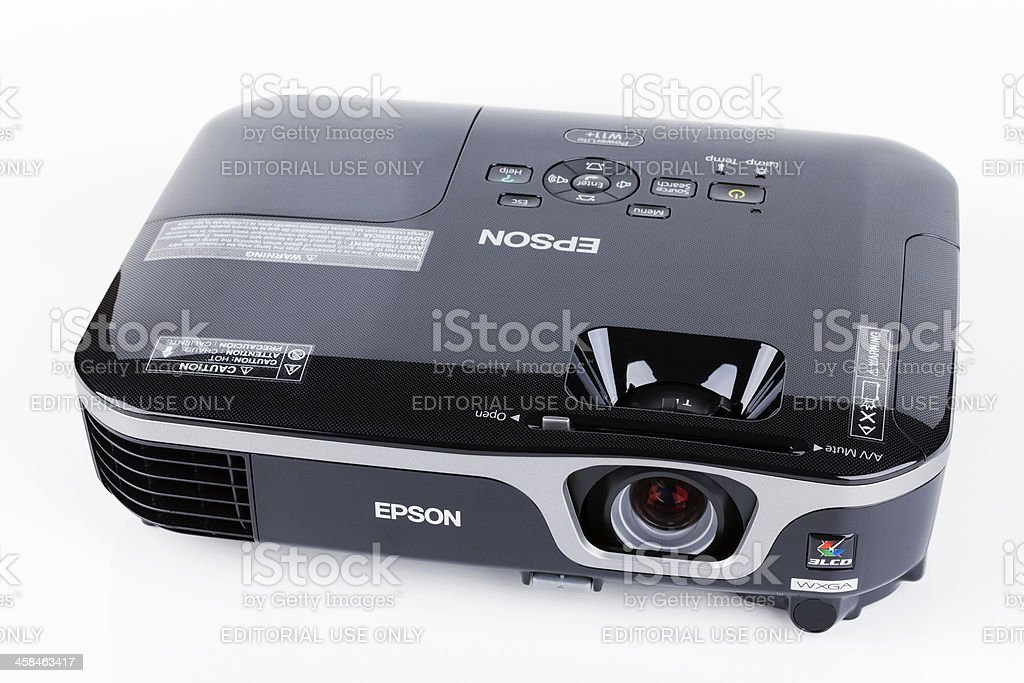 Projector on white background stock photo