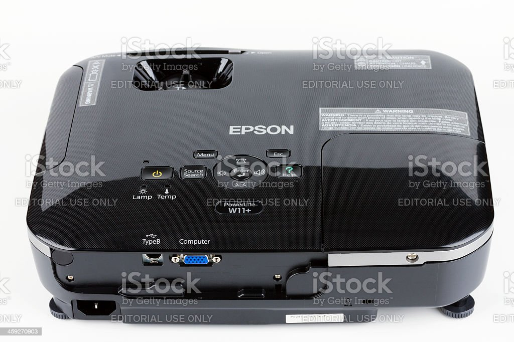 Projector on white background royalty-free stock photo