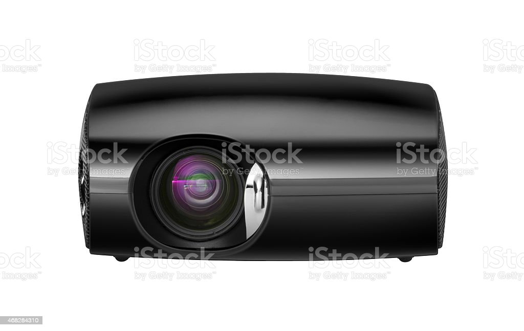 projector under the white background stock photo