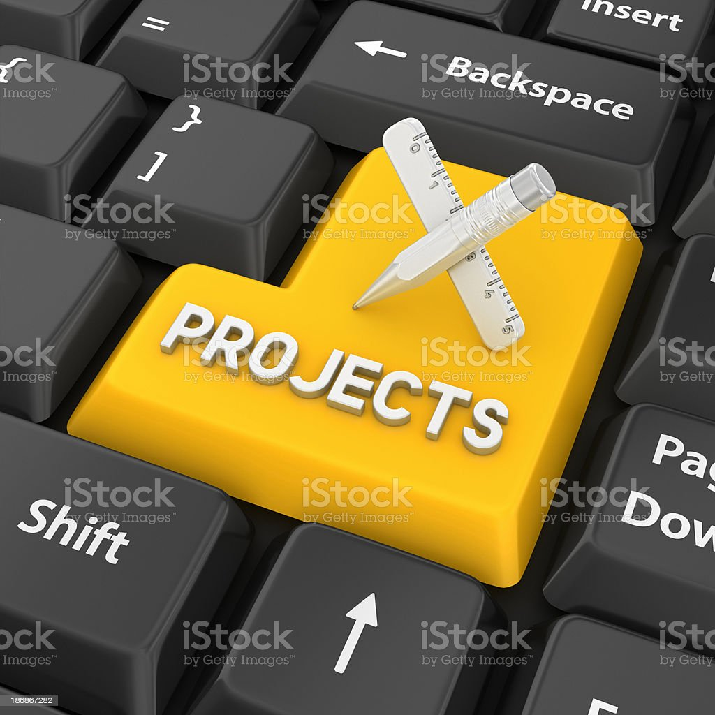 projects enter key stock photo