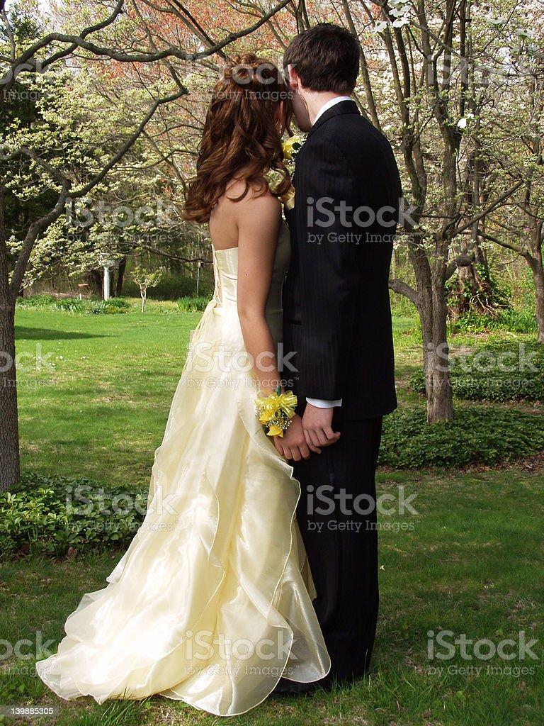 Prom Couple stock photo