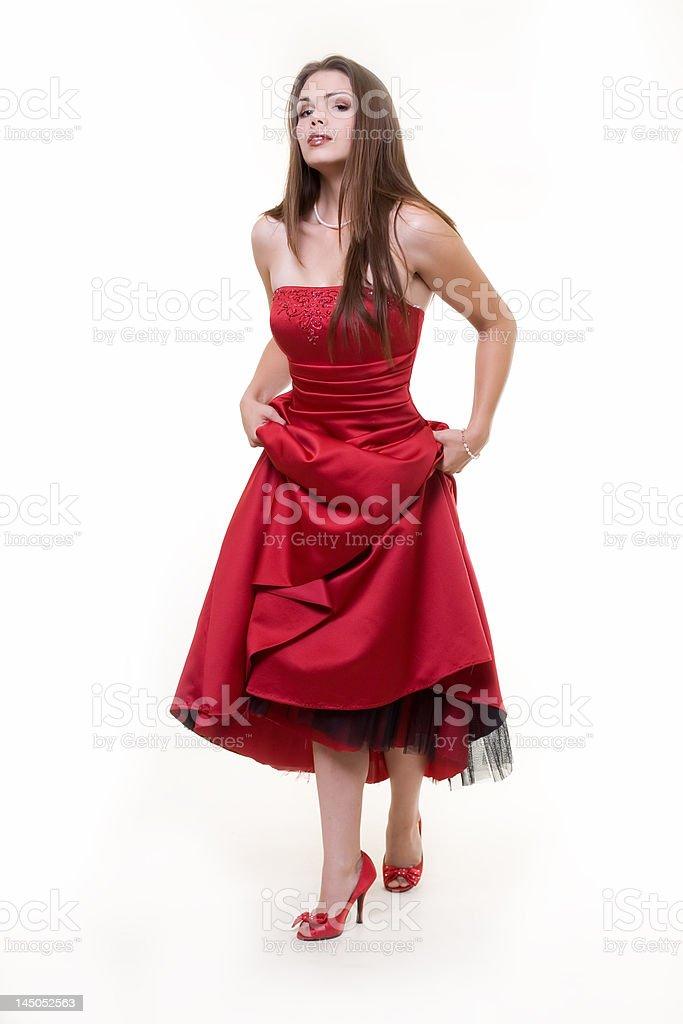 Prom dress royalty-free stock photo