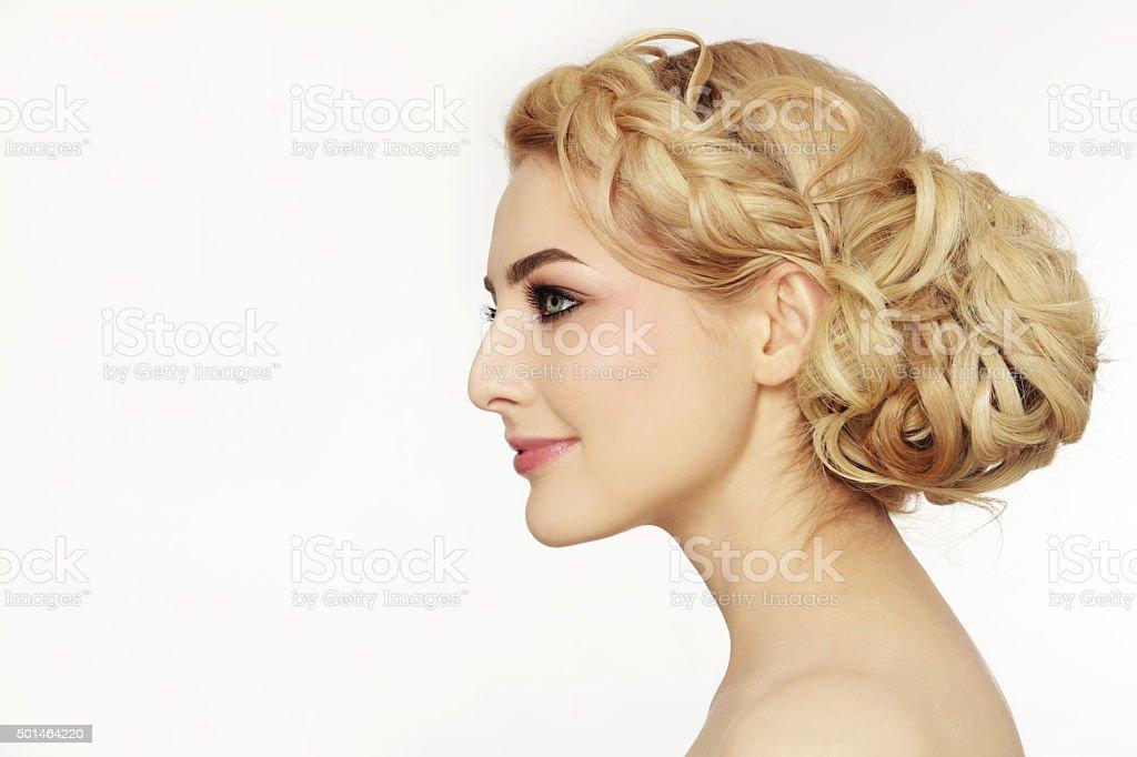 Prom hairdo stock photo