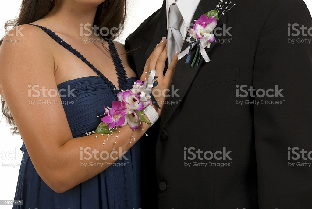Prom or Wedding Corsages stock photo