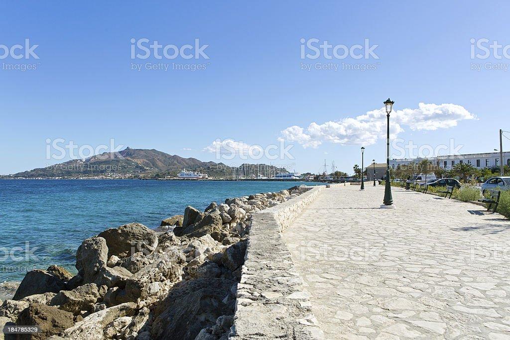 Promenade along the sea royalty-free stock photo