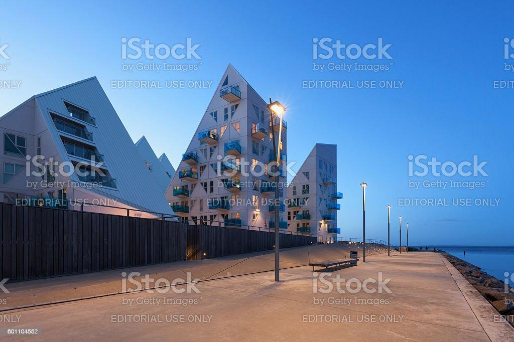 Promenade at Aarhus in Denmark stock photo