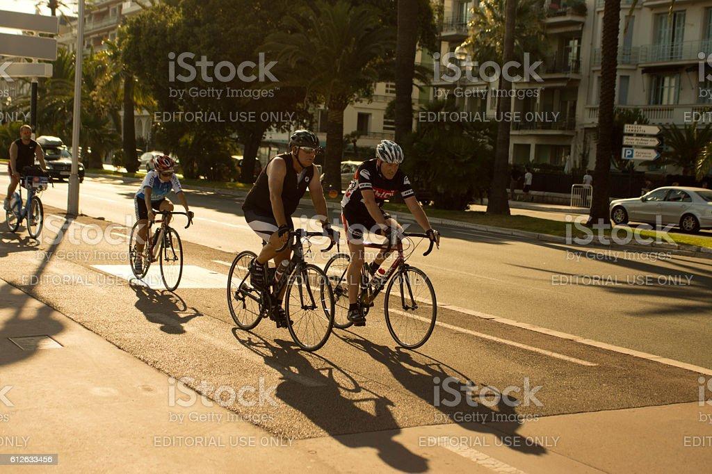 Promenade at Nice, France stock photo