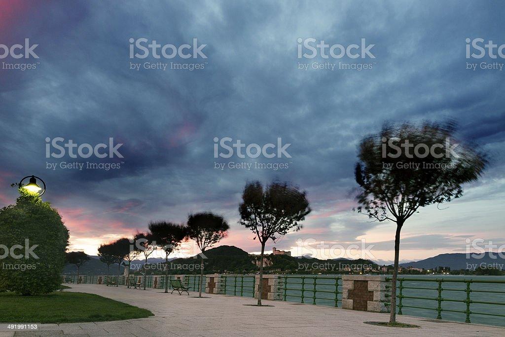 Promenade. Color Image stock photo