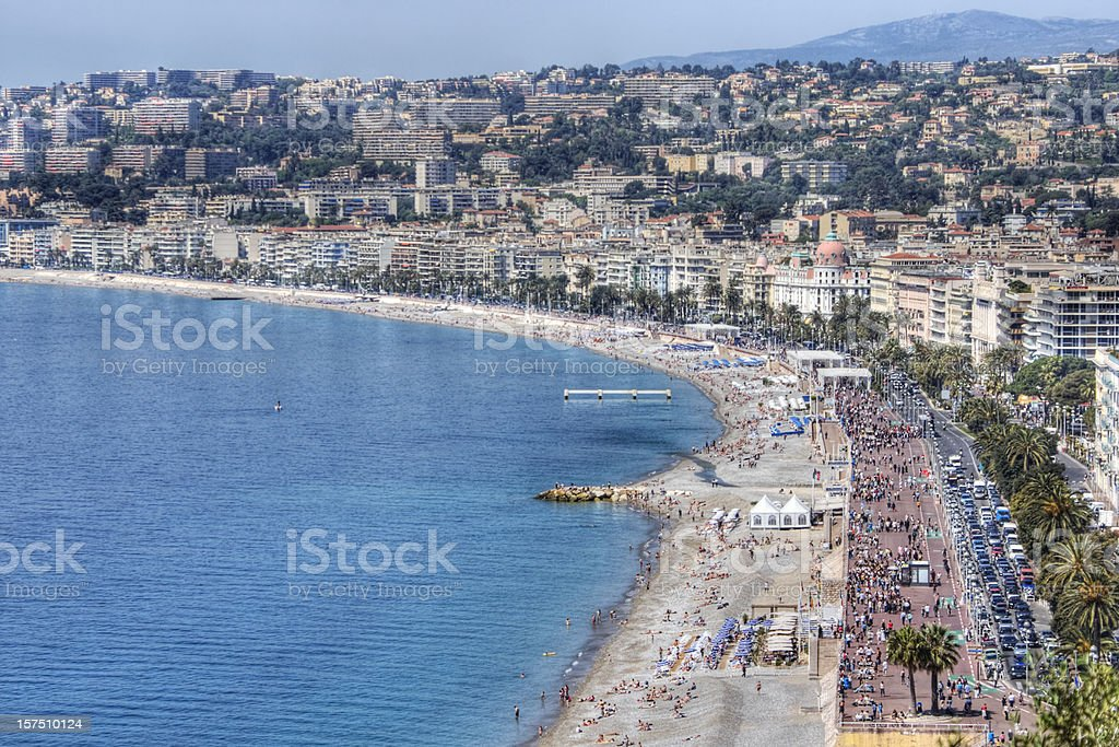 Promenade des Anglais in Nice, France royalty-free stock photo