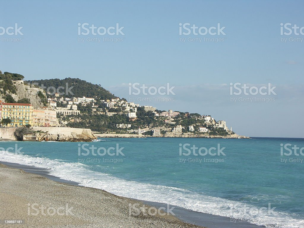 Promenade des Anglais (Nice, French Riviera) royalty-free stock photo