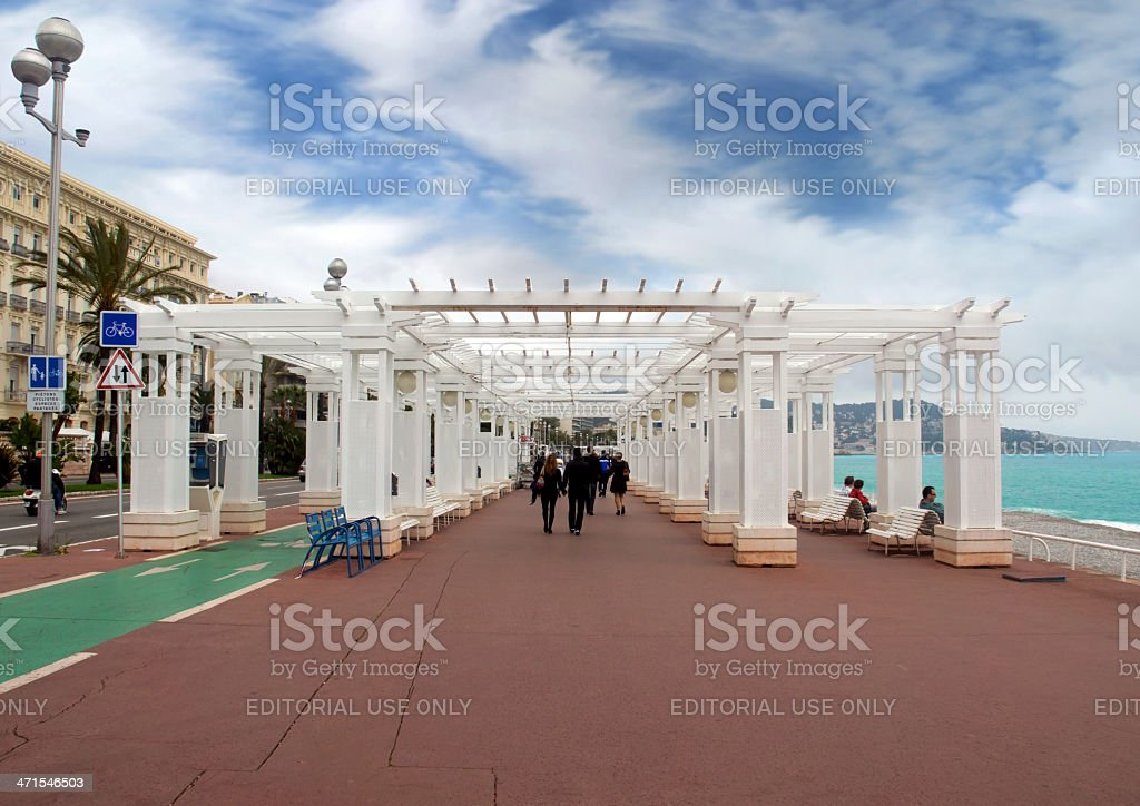 Promenade des Anglais royalty-free stock photo
