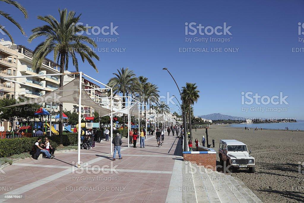 Promenade in Estepona, Spain royalty-free stock photo