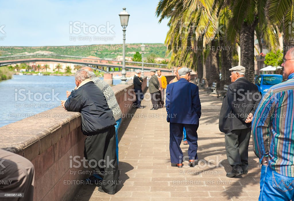 Promenade in Italy stock photo