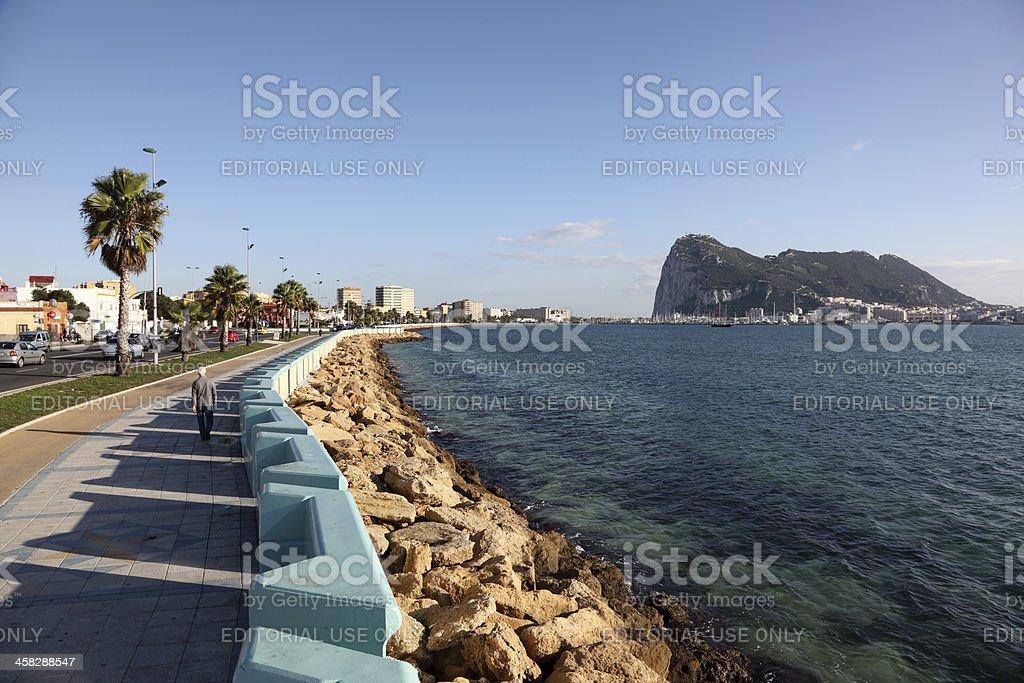 Promenade in La Linea, Spain stock photo